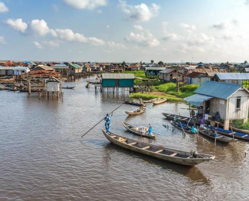 Ganviè, il villaggio galleggiante nella laguna, Benin