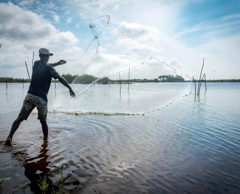 Pescatore in Benin
