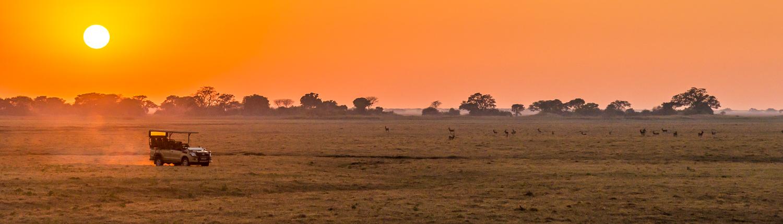 Alba nel parco nazionale del Kafue in Zambia, fantastico viaggio fotografico