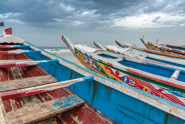 Senegal, fishing boats at Kayar