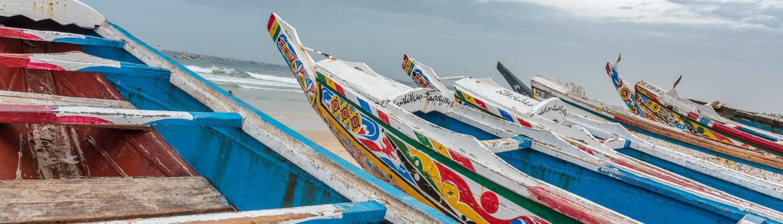 Senegal, Fischerboote in Kayar
