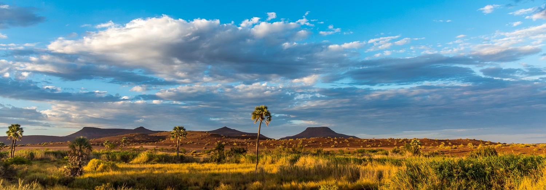 landscape in the damaraland near palmwag in namibia