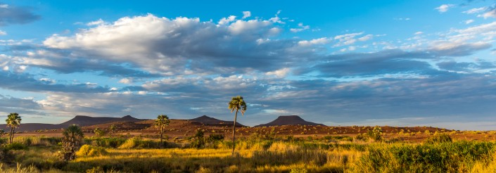 landscape in the damaraland near palmwag in namibia