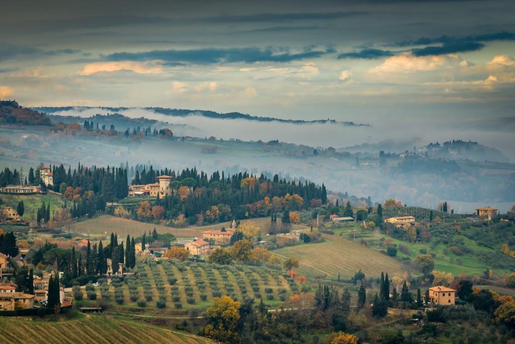 vista da San Gimignano