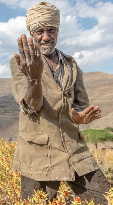 ein Bauer im Hochland