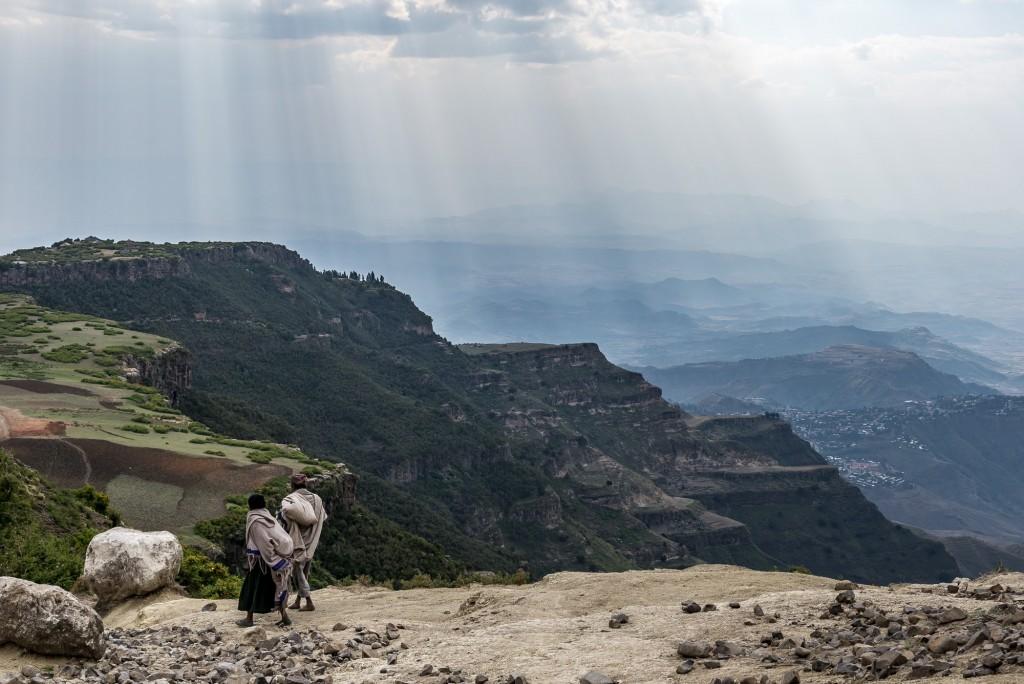 un sentiero negli altipiani etiopi vicino al Lalibela
