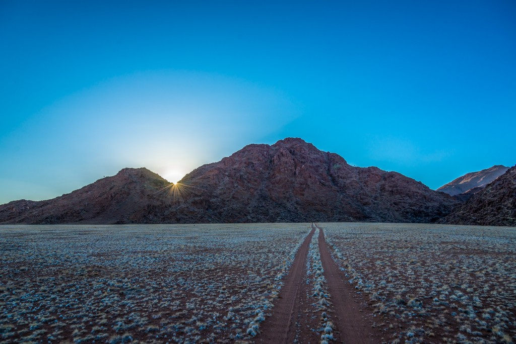 sunrise in the tiras mountains, namibia