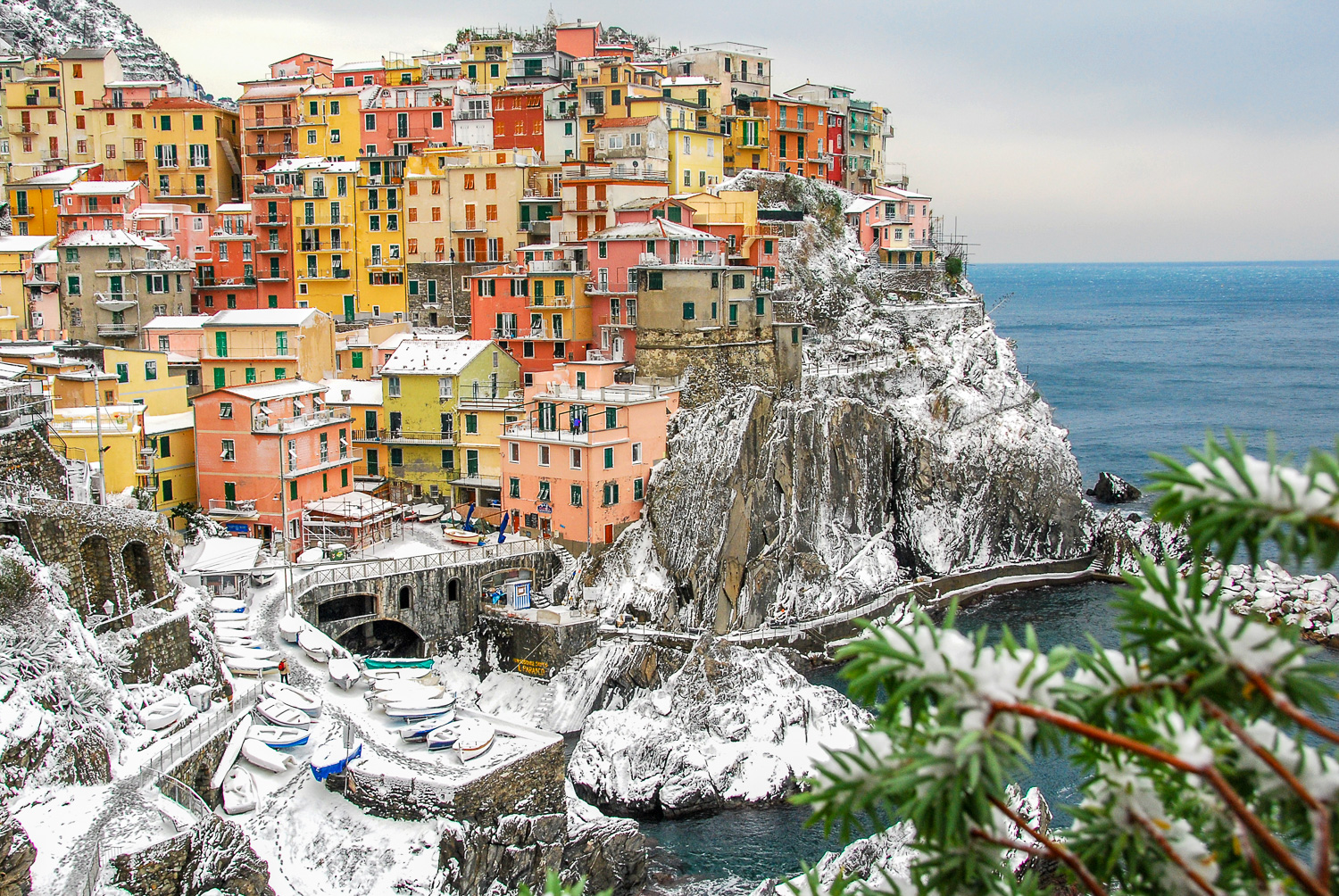 Image result for Cinque Terre snow