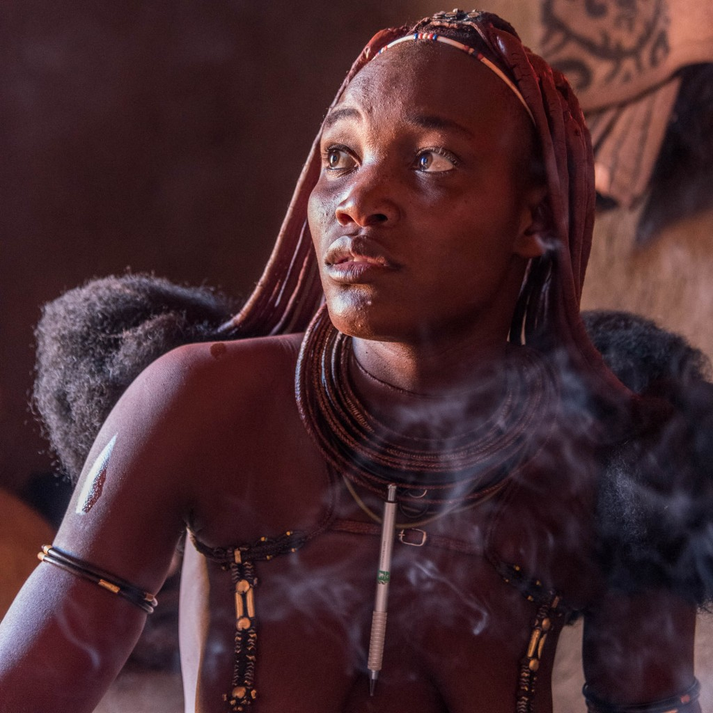 himba woman, portrait, namibia