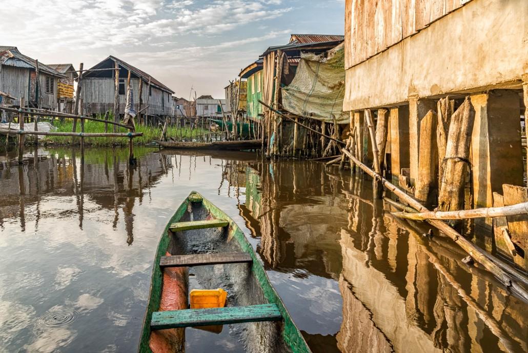 Ganvie the stilt village in Benin