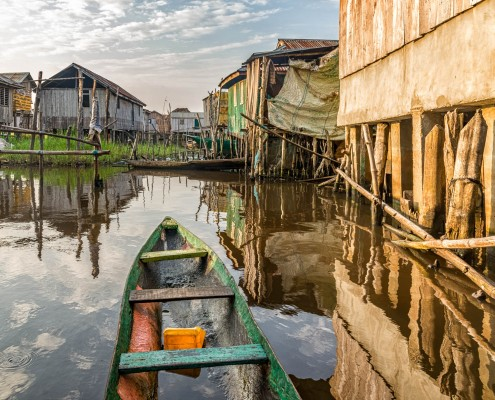 Ganvie the stilt village in Benin