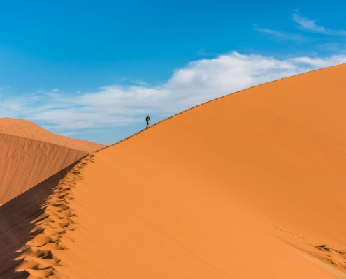 La duna 45 vicino al sossusvlei in namibia