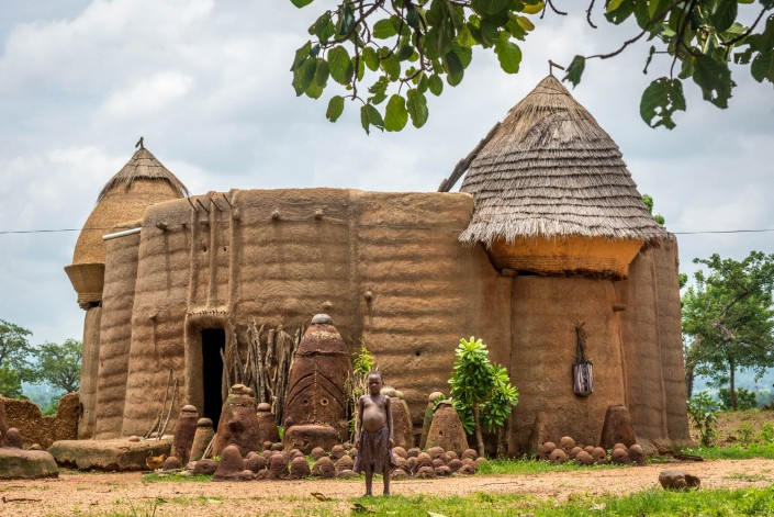 The mud dwellings in northern Togo