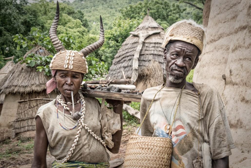 nel villaggio tamberma somba in Togo, sito unesco