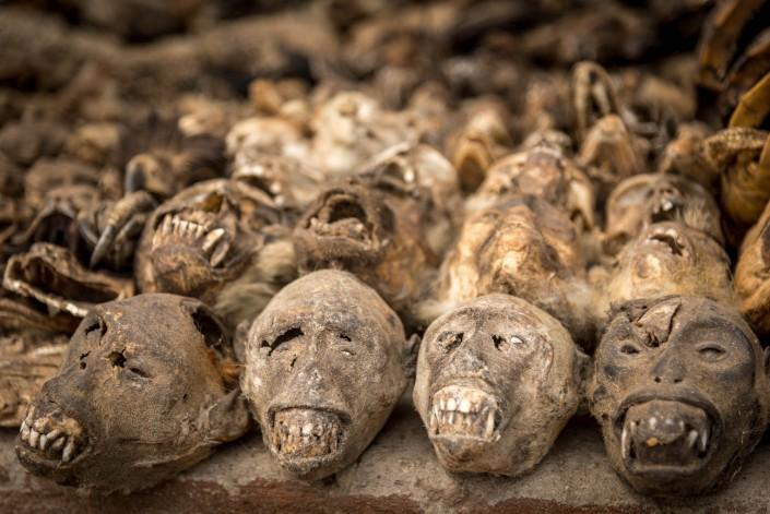 il mercato dei feticci a Lomè, la capitale del Togo