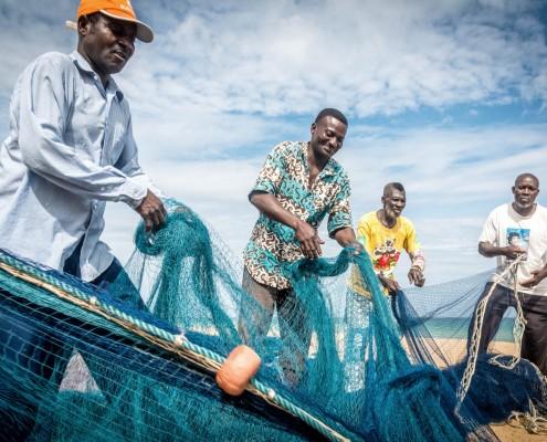 Pescatori a Grand Popo in Benin