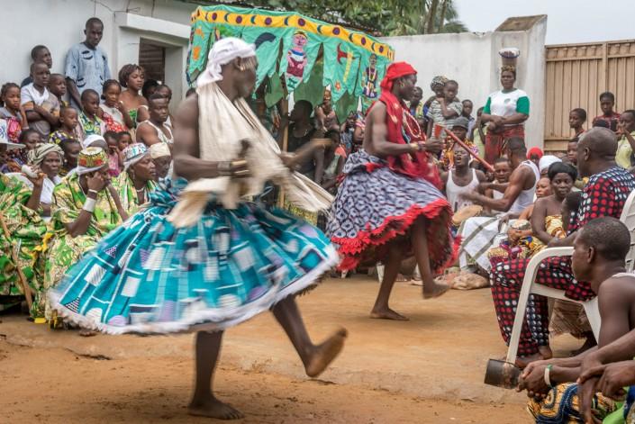 Voodoo ceremony in Ouidah
