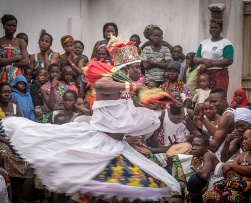 Ceremonia vudù a Ouidah in Benin