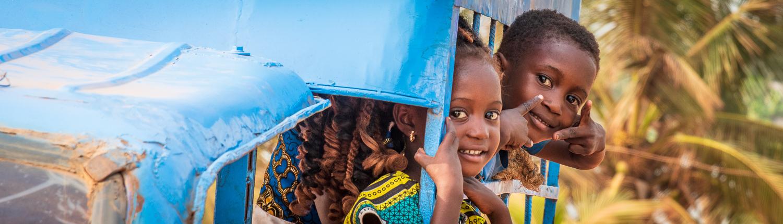smiling children in gran popo benin