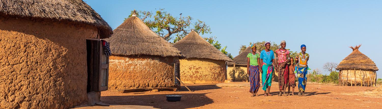 Africa, Benin, Kouaba. Fulani village