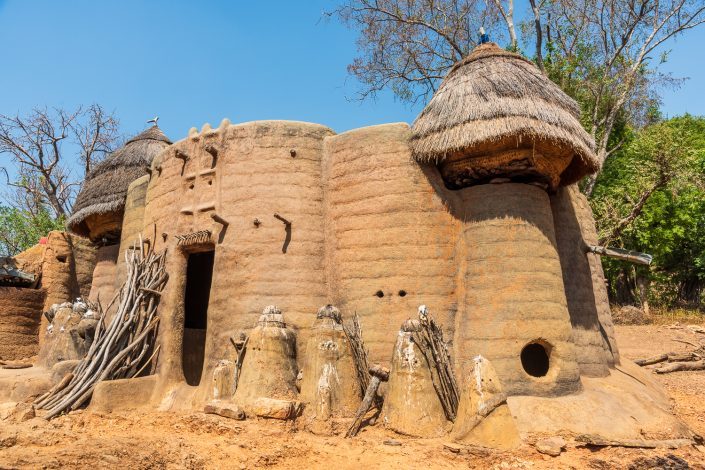 Africa, Togo. Koutammakou, Tamberma people. Unesco World Heritage site.