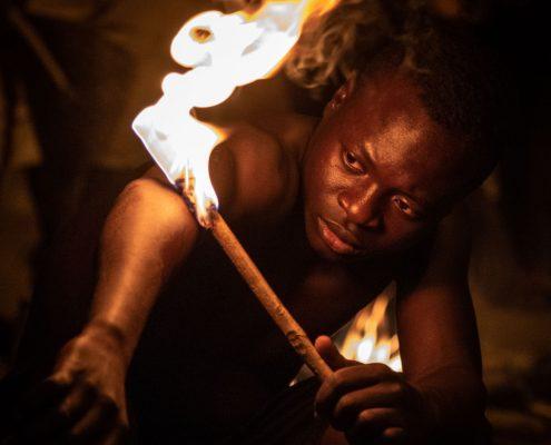 The fire dance in Sokodè