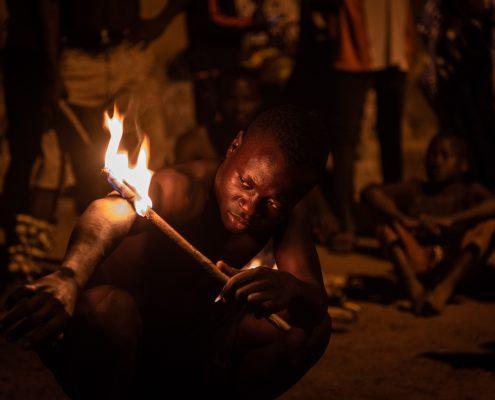 Fire dance, Togo, Sokodè
