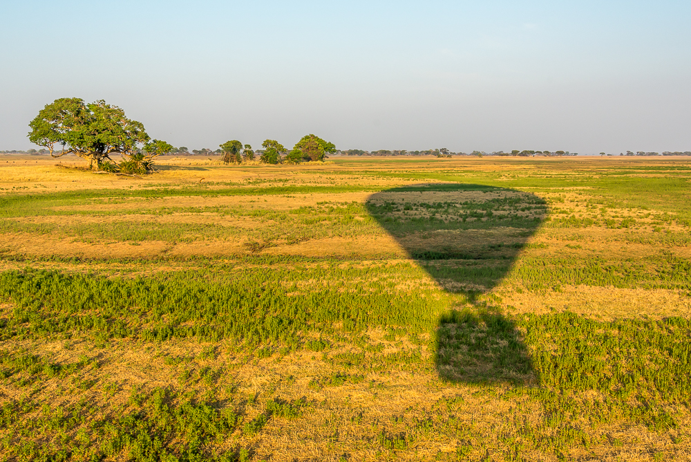 balloon ride in Kafue np zambia