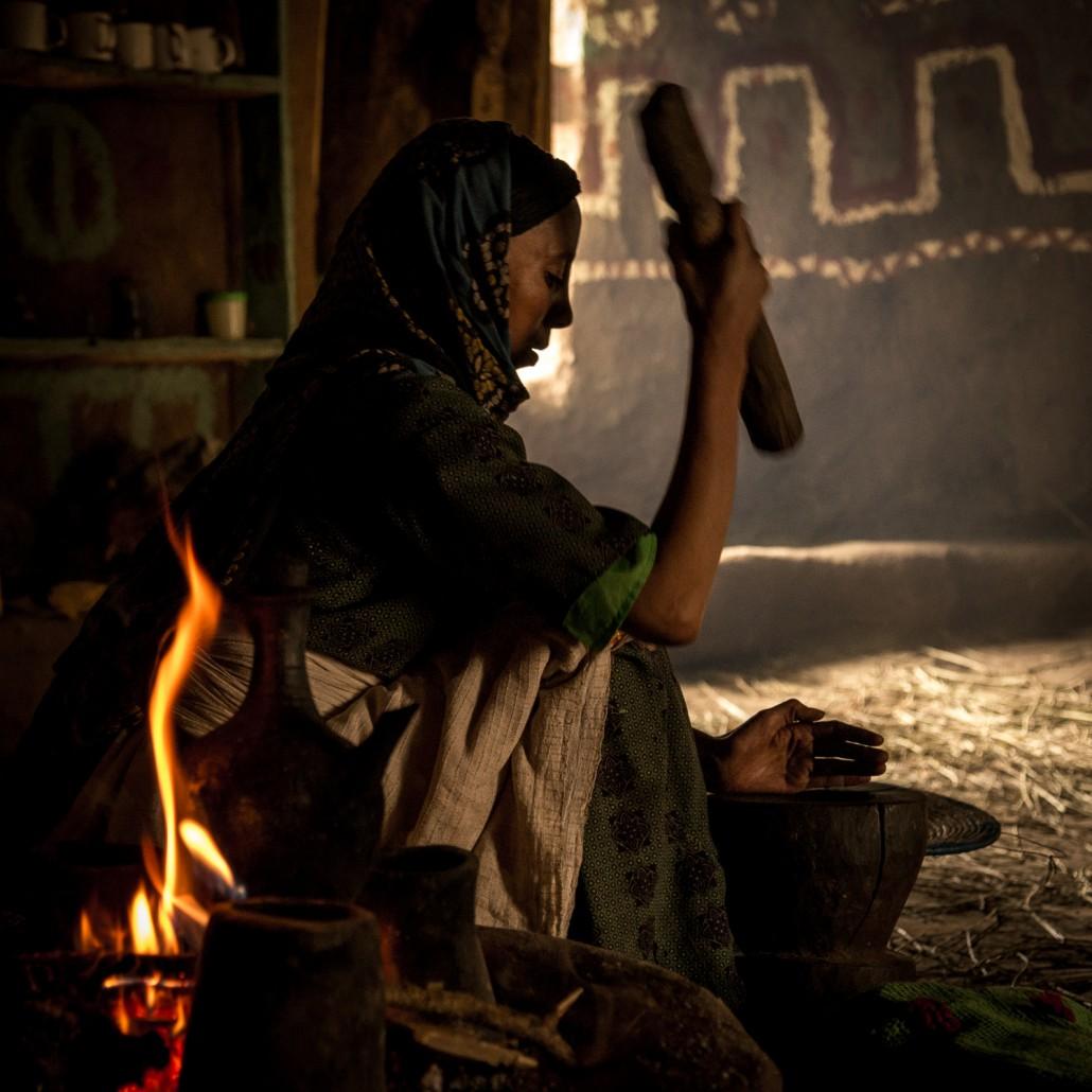 La ceremonia del caffè in Etiopia