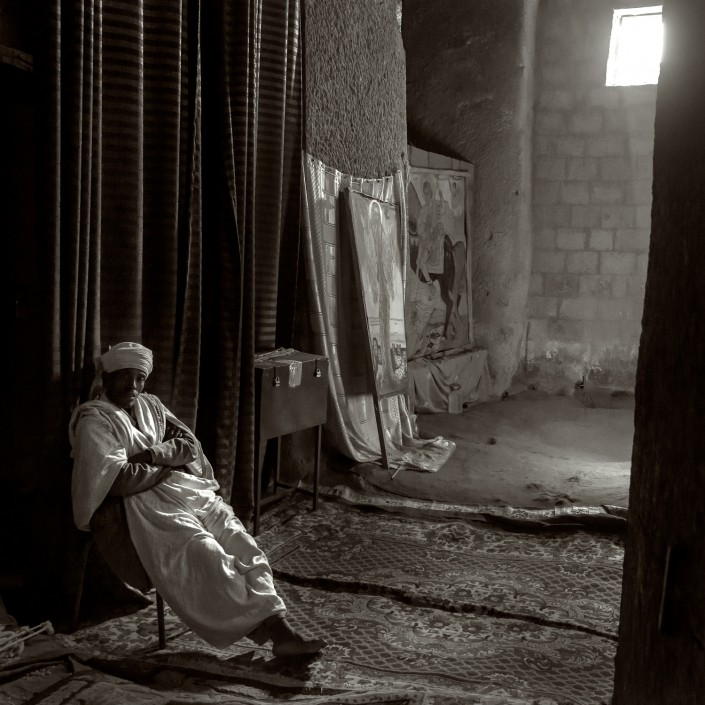 ethiopia, priest in the church