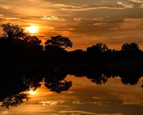 L'alba sul delta dell'Okavango, Botswana