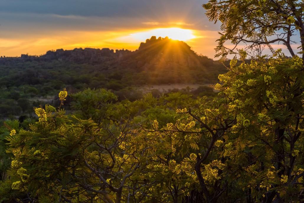 Sonnenuntergang im Matopos Nationalpark