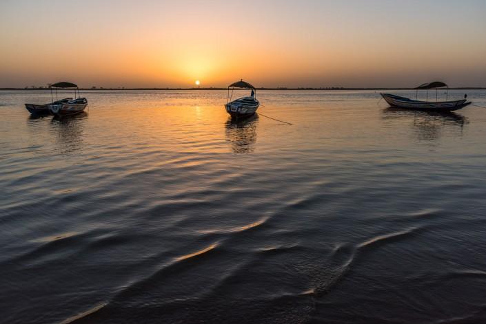 Senegal, barche a Simal nel Delta Sine Saloum
