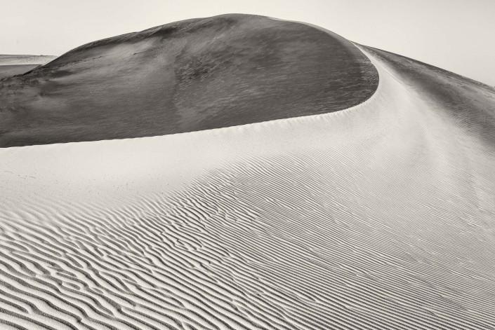 Senegal, bianco e nero, le dune del deserto Lompoul