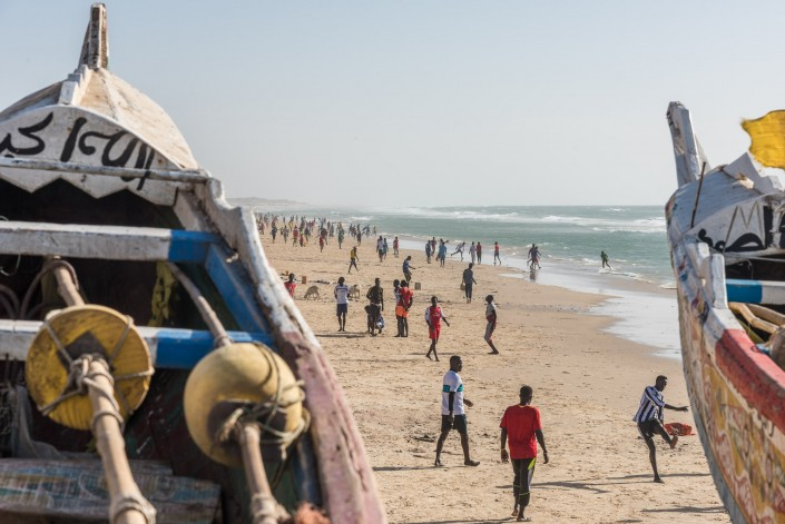 Senegal, am Strand von Saint Louis