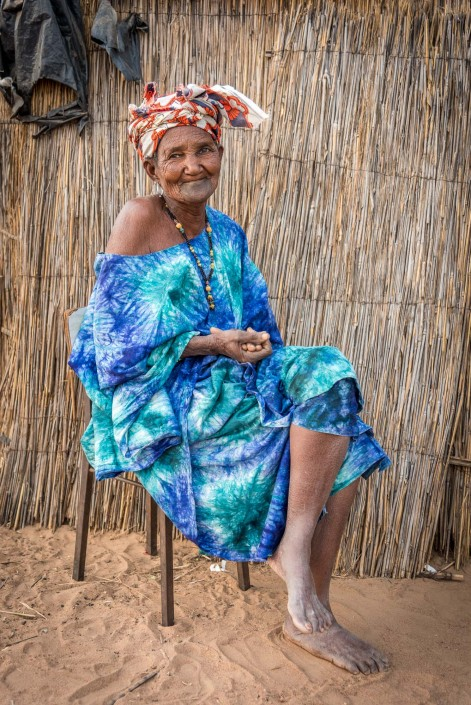 Senegal, portrait of a fulani woman