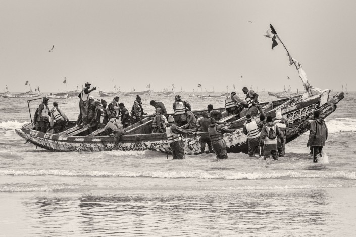 ein Fischerboot in Kayar