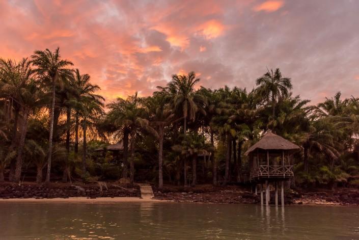 Guinea Bissau, Sonnenuntergang auf den Inseln Bijagos