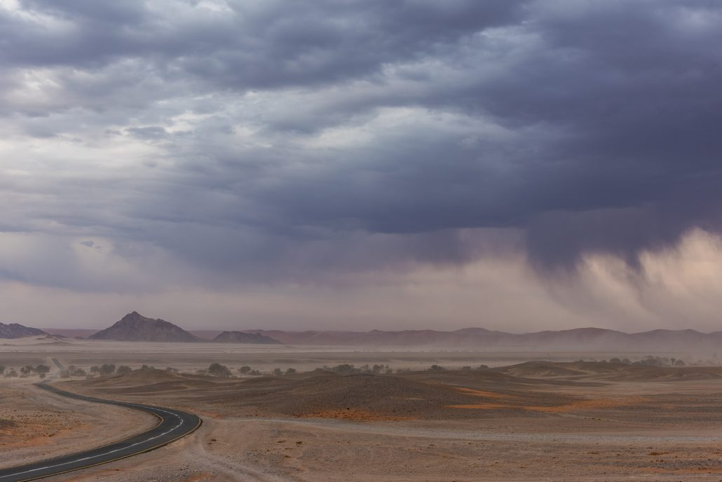 a thunderstorm near to sossusvlei