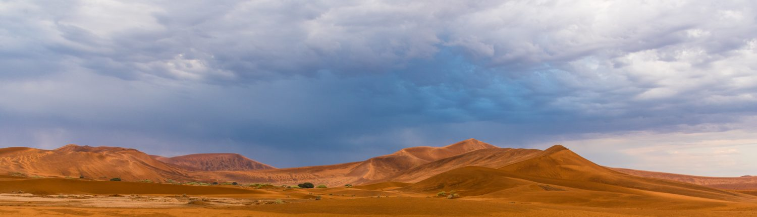 the Namib dunes during a thunderstorm