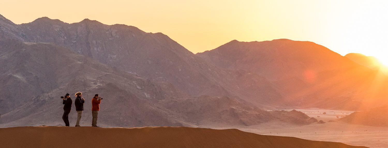 namibia, Sonnenaufgang in der Wueste