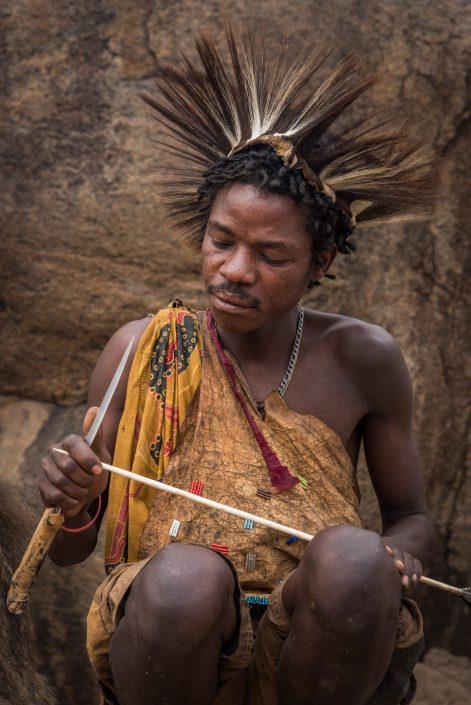 Hadzabe hunter, Bushmen in Tanzania