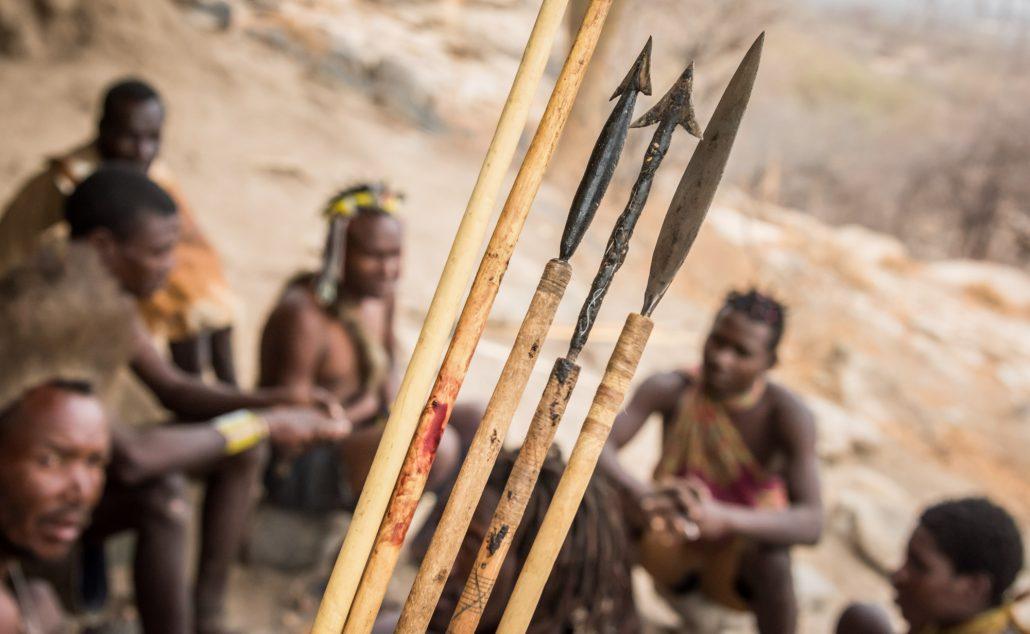 Hadzabe hunters, bushmen in Tanzania