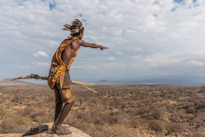 a Hadzabe hunter, Bushmen in Tanzania