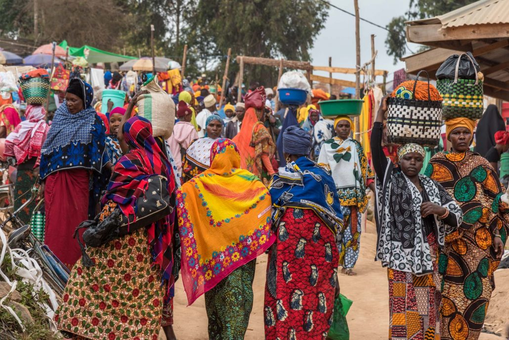 A day of market in the Usambara Mountains, Tanzania, Africa