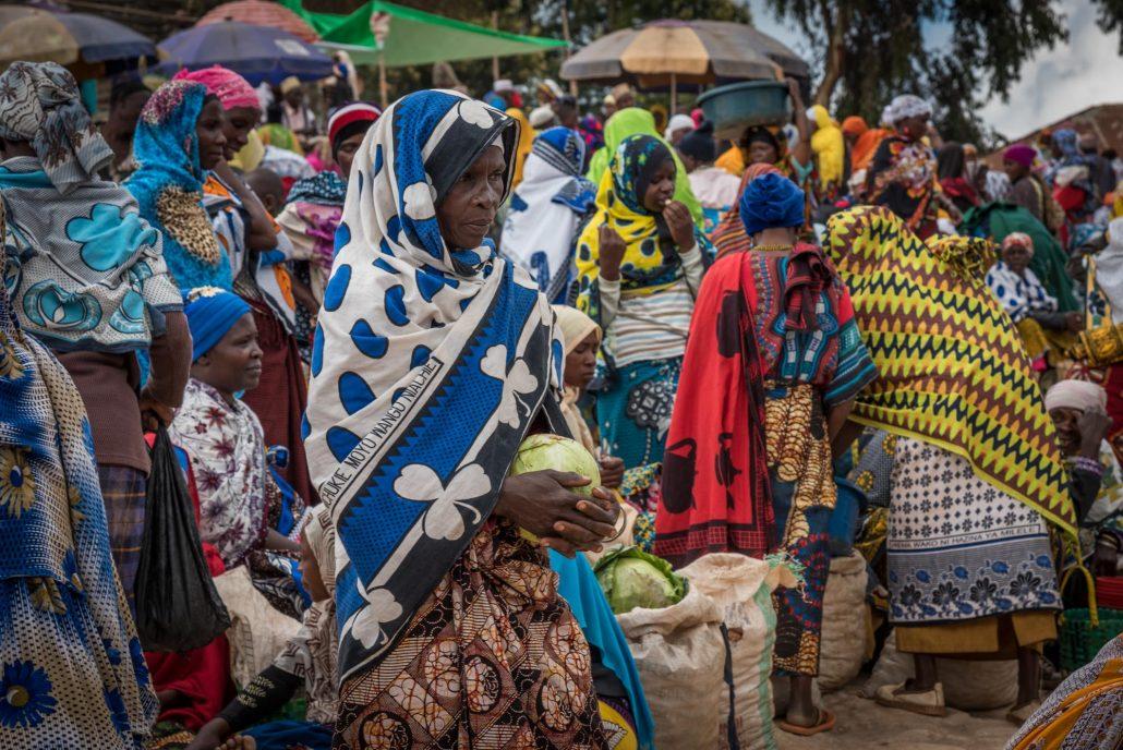 Usambara Mountains, Tanzania, a market day