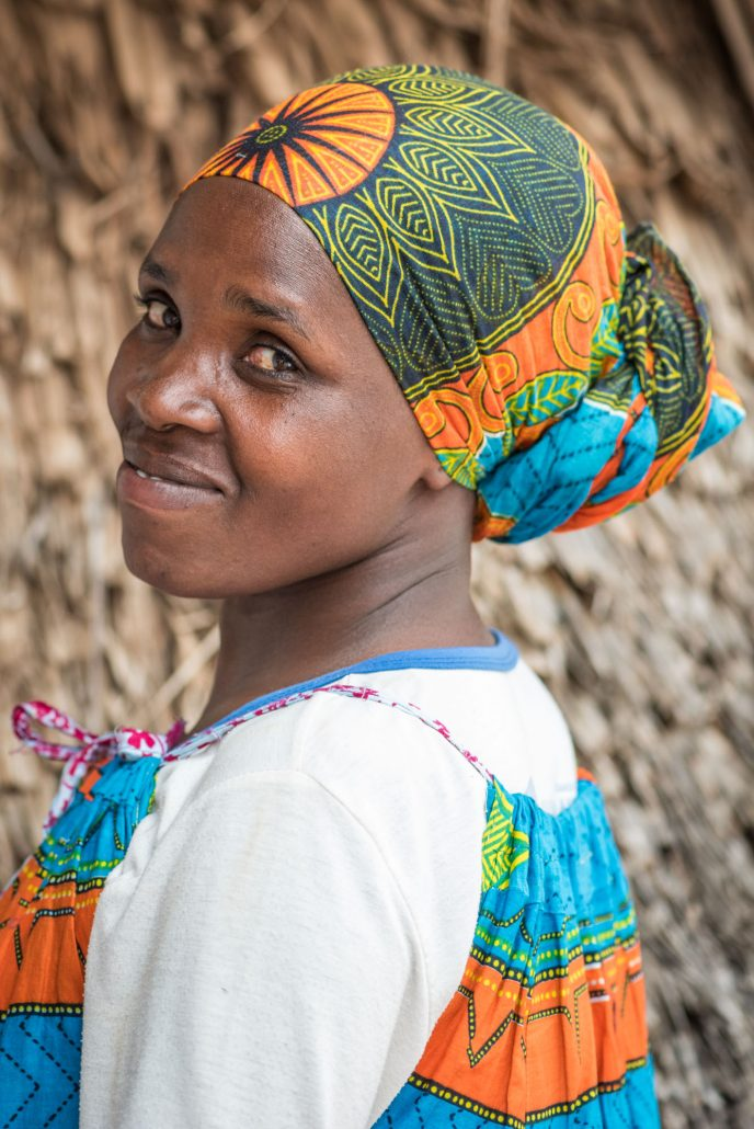 portrait of a woman in the usambara mountains