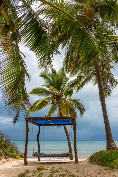 the beach of the tides lodge in pangani in tanzania after the storm