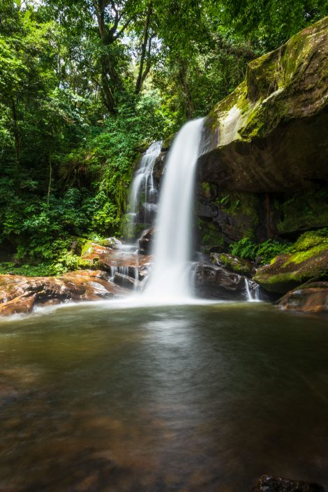the Sanje waterfalls in the Udzungwa Mountains