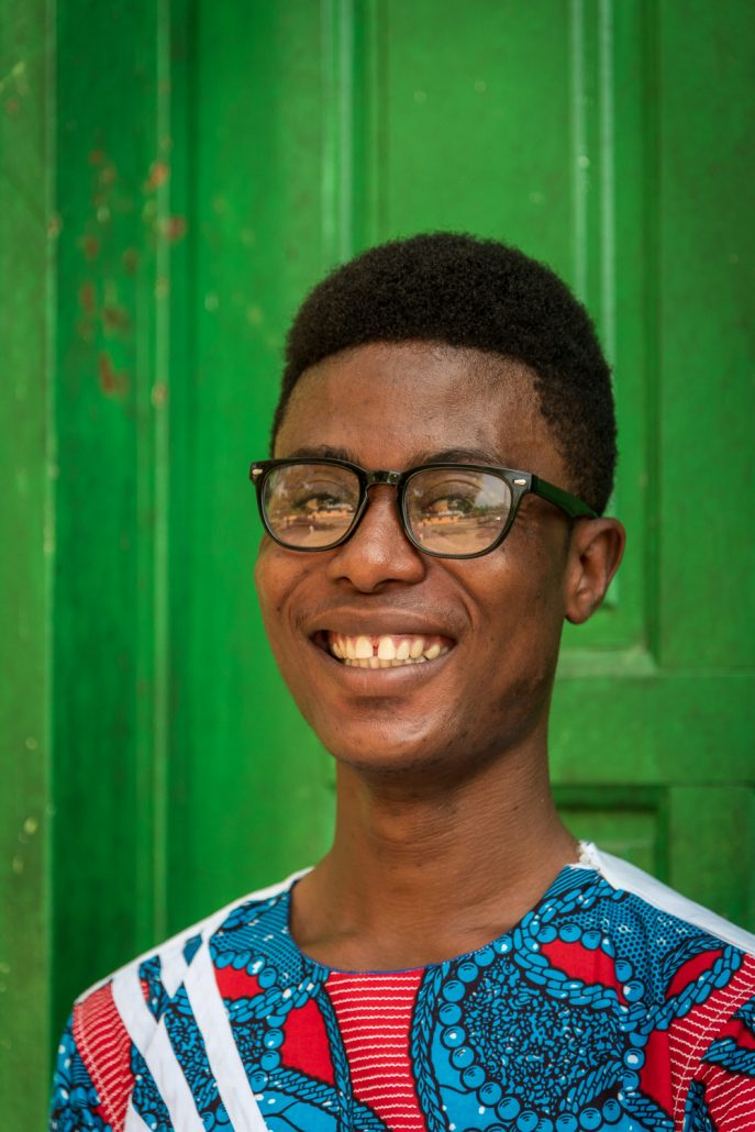a young boy in ghana